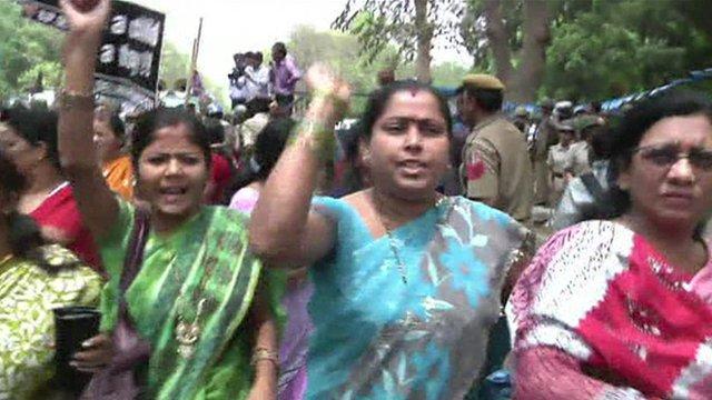 Women protesters in Delhi