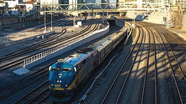 VIA train in Canada