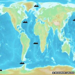 Simulation of ships trading