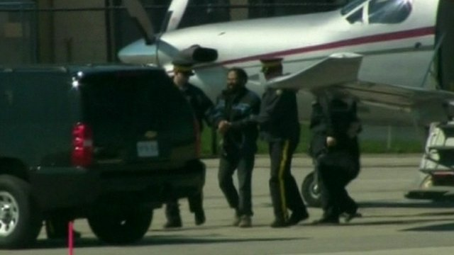 Terror suspect transferred to car