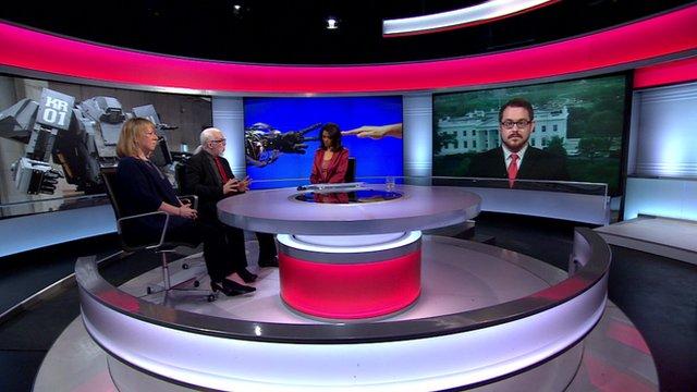 Zeinab Badawi with studio guests