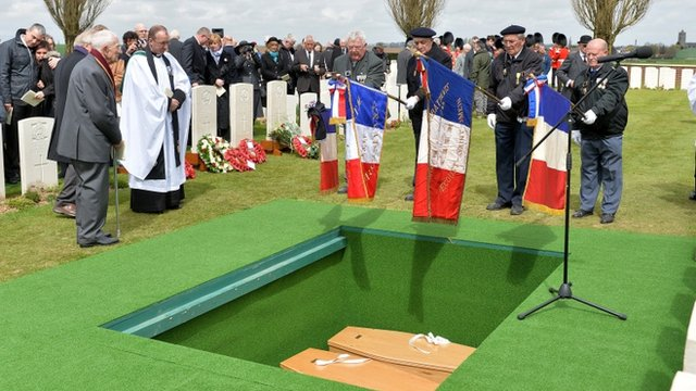 The coffins of the two soldiers