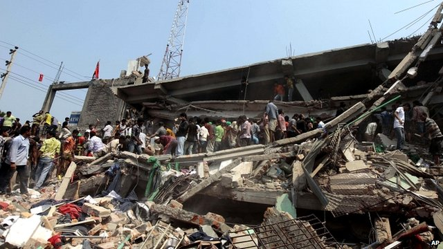 Rescue workers search for survivors, Dhaka