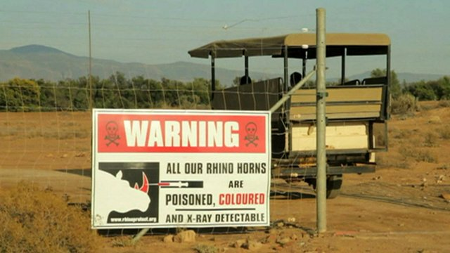 Warning poster at reserve
