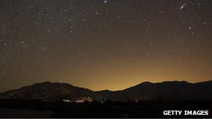 Light pollution in California