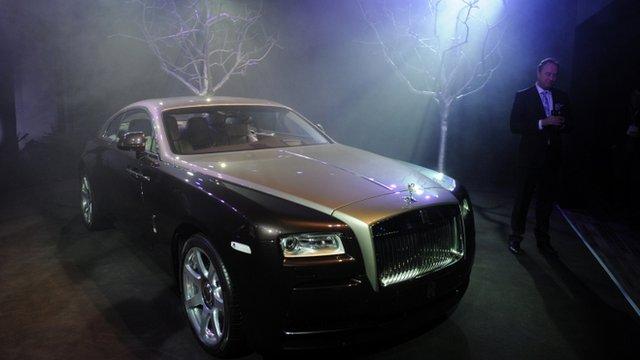 Rolls-Royce car on show in Shanghai