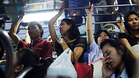 Commuters in Thailand