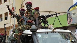 Seleka rebels in the Central African Republic