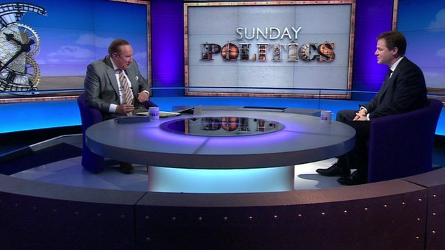 Andrew Neil and Nick Clegg