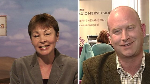 Caroline Lucas and Paul Nuttall