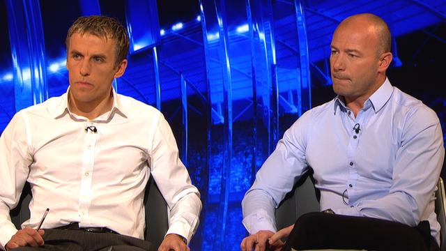Phil Neville and Alan Shearer