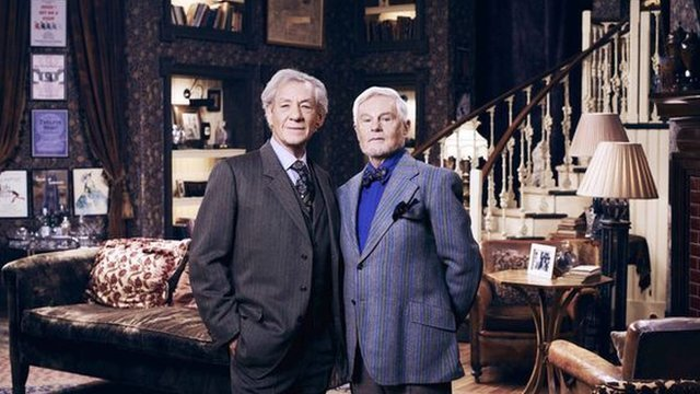 Sir Ian McKellen and Derek Jacobi stars of ITV sitcom Vicious