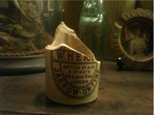 Broken stone bottle