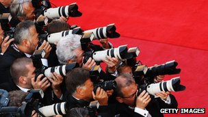 Photographers at red carpet event