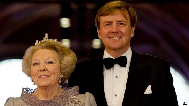 Queen Beatrix of the Netherlands and her son Prince Willem-Alexander