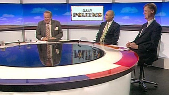 Andrew Neil, Sajid Javid and Stephen Timms