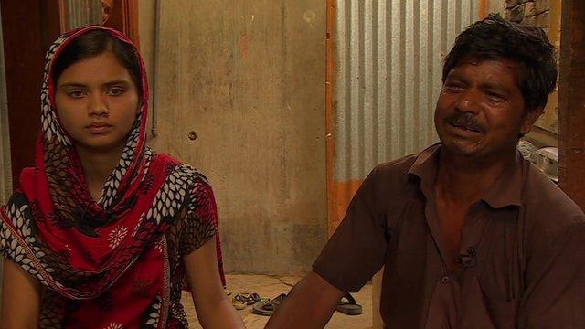 Habibur Rehman and his rescued daughter