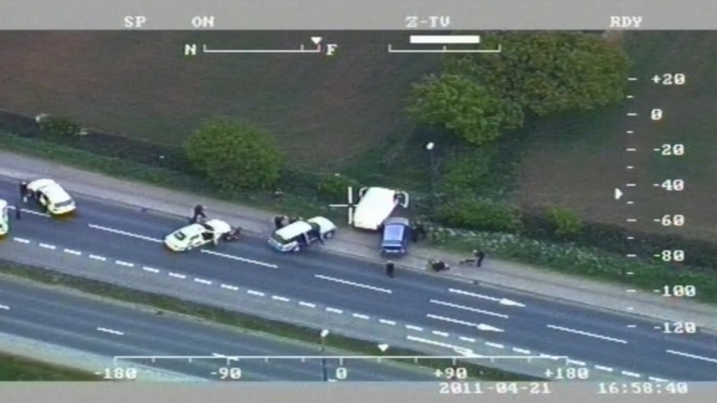 Police helicopter footage