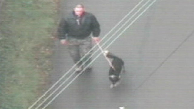 Mark Bridger seen from police helicopter