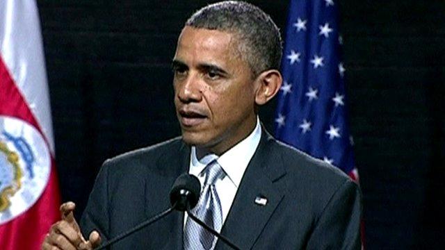 President Barack Obama in Costa Rica