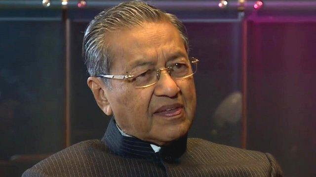 Former Malaysian Prime Minister Mahathir bin Mohammad
