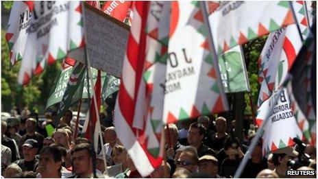 Jobbik rally in Budapest, Hungary (4 May 2013)