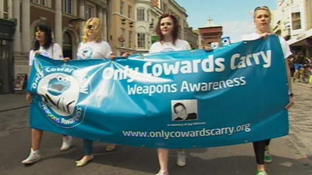 Anti-knife walk in Colchester