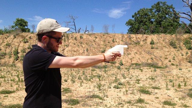 3D gun being fired