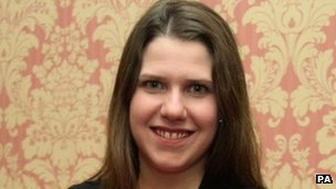 Equalities Minister Jo Swinson