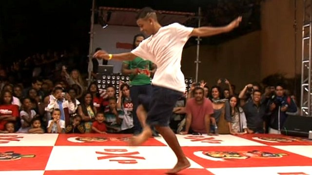 Pablinho at a dance competition