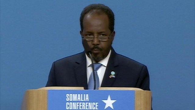 Somalia's President Hassan Sheikh Mohamud