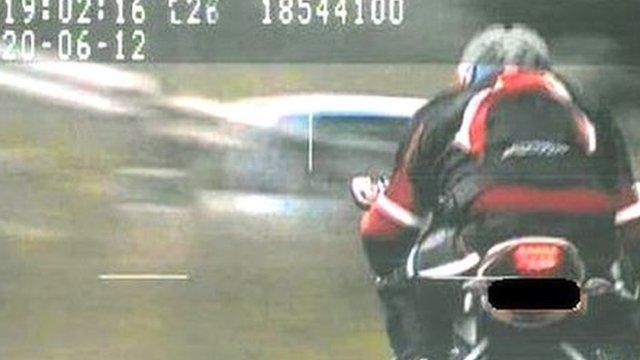 Speed camera shot of Andrew Kelly