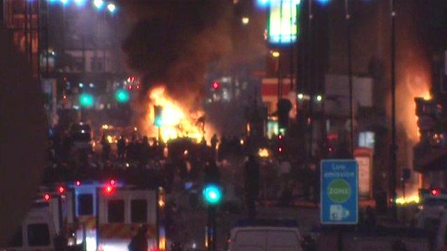 Riots in Tottenham in 2011