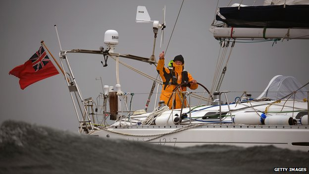 Gerry Hughes and his boat Quest III
