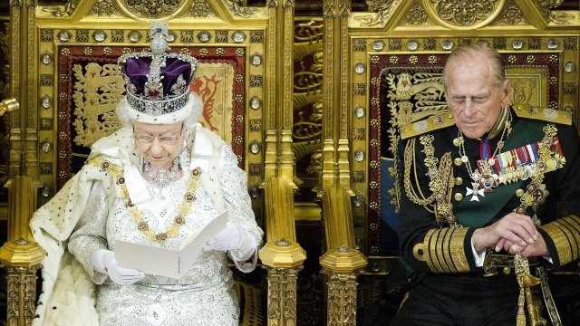 The Queen and the Duke of Edinburgh at the State Opening of Parliament