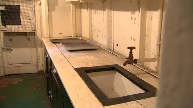 Fixtures and fittings: the old sinks on the warship