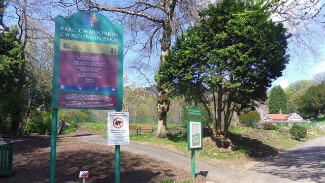 Cwmdonkin Park in Swansea