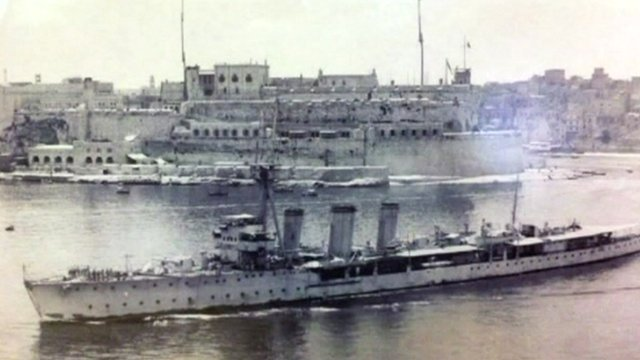 Archive image of HMS Caroline