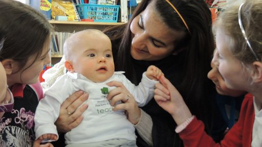 Baby in classroom