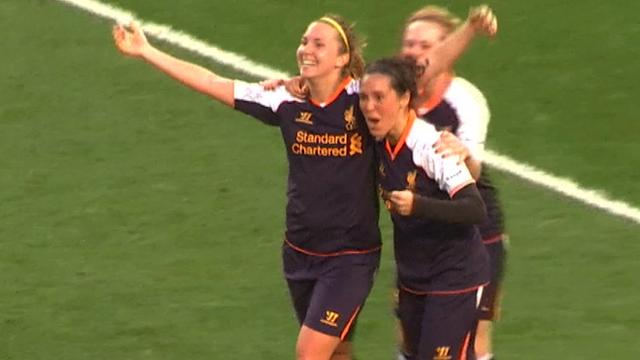 Liverpool celebrate against Arsenal