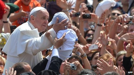 Pope Francis in St Peter's Square (May 12 2013)