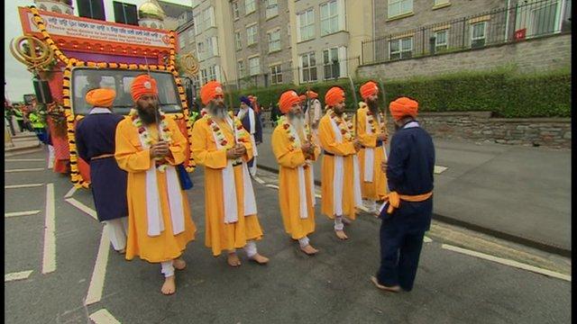Sikh parade Bristol