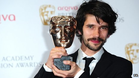 Ben Whishaw with his Bafta for leading actor