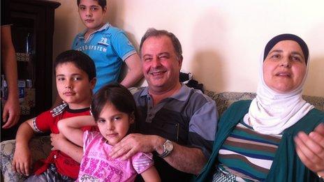 Dr Najeb al Hadal and his family
