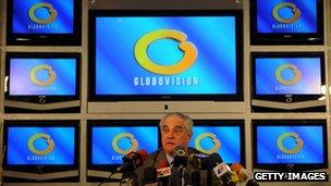 Globovision director Guillermo Zuloaga at a news conference on 18 November 2009