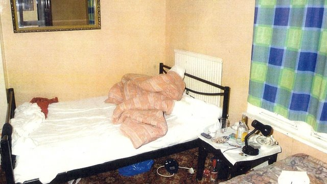 Undated handout photo issued by Thames Valley Police of a general view of a room in the Nanford Guest House in Oxford