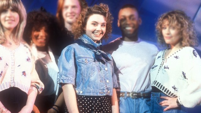 Emma Louise Booth at the 1990 Eurovision with 'Give A Little Love Back to the World'