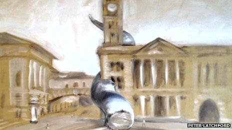 "Birmingham Chamber of Commerce sketch of ""the spirit of Birmingham"""