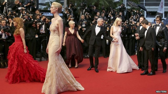 Stars at the premiere of The Great Gatsby - one of the films being shown in Cannes