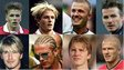 Beckham's looks through the years